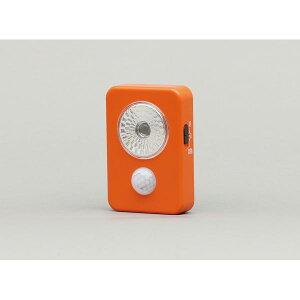 アイリスオーヤマ 乾電池式LED屋内センサーライト ハンディタイプ オレンジ LWM−40K
