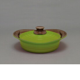 アイリスオーヤマ 無加水鍋 24cm浅型 グリーン MKSS−P24S【4967576376549:1309】