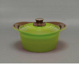 アイリスオーヤマ 無加水鍋 24cm深型 グリーン MKSS−P24D【4967576376570:1309】