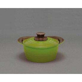アイリスオーヤマ 無加水鍋 20cm グリーン MKSS−P20【4967576376518:1309】