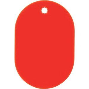 ■OP スチロール番号札 小 無地 5枚入 赤 10袋入 〔品番:BF-2P-RD〕掲外取寄【1130989×10:0】