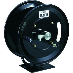 ■OKS 高圧ホースリール 耐圧20.5MPA 手動巻 固定据置き型(ホースなし) 〔品番:HSP-12MB〕【1145343:0】