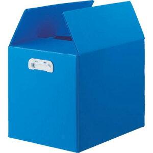 ■TRUSCO ダンボールプラスチックケース 5枚セット A3サイズ 取っ手穴なし ブルー 〔品番:TDP-A3D-5B〕【1145737:0】