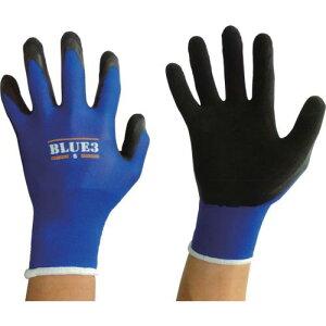 ■富士手袋 ブルースリー天然ゴム手袋18G 〔品番: 9320-S〕【1151097:0】