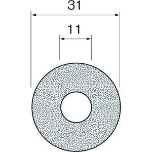 ■リューター ダイヤモンドディスク(裏面接着剤付)A6034〔品番:A6034〕【1269022:0】[送料別途見積り][法人・事業所限定][掲外取寄]