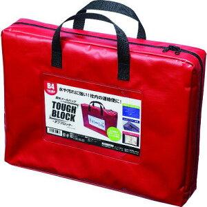 ■マグエックス 耐水メールバッグB4(マチあり)赤〔品番:MPOB4RD〕【1582998:0】