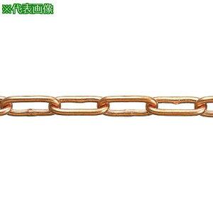 ■水本 銅チェーン CU−9 長さ・リンク数指定カット 1.1〜2m 〔品番:CU-9-2C〕【1599880:0】[送料別途見積り][法人・事業所限定][メーカー取寄]