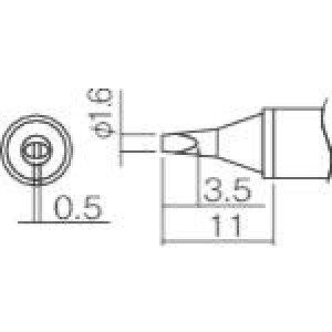 ■白光 こて先 1.6WD型〔品番:T12WD16〕【2977052:0】