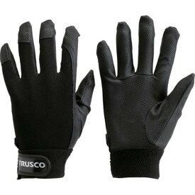 ■TRUSCO PU厚手手袋 Mサイズ ブラック TPUG-B-M トラスコ中山(株)【2997461:0】