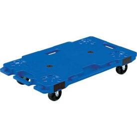 ■サンコー 樹脂製平台車 サンキャリー6839 ブルー 〔品番:SK-6839-BL〕【3448797:0】