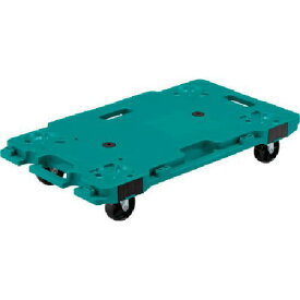 ■サンコー 樹脂製平台車 サンキャリー6839 グリーン 〔品番:SK-6839-GR〕【3448801:0】