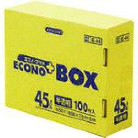 ■サニパック E-44エコノプラスBOX45L半透明 (100枚入)〔品番:E44HCL〕【4079922:0】