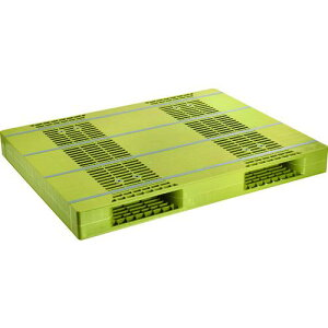 ■NPC プラスチックパレットZR-110140E 両面ニ方差し ライトグリーン 〔品番:ZR-110140E-LG〕【4678826:0】[法人・事業所限定][直送元]