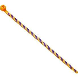 ■パンドウイット ストライプナイロン結束バンド オレンジ/紫 (50本入) PLT1M-L3-7 【4962419:0】