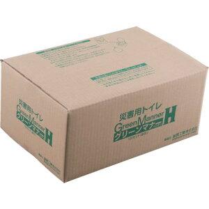 ■KAKURI もみがら炭入り簡易トイレ グリーンマナー 100袋セット 〔品番:4566〕【8085568:0】[送料別途見積り][法人・事業所限定][掲外取寄]
