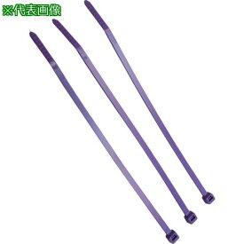 ■パンドウイット ナイロン結束バンド 紫 (100本入) 〔品番:PLT2S-C7〕【8146491:0】