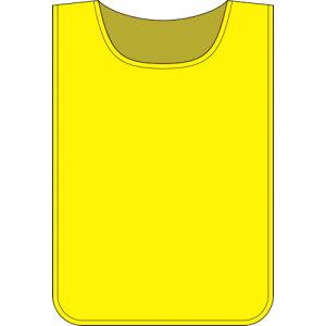 ■緑十字 安全ベスト(ゼッケン) 黄無地タイプ 600×440MM 布製 〔品番:237103〕掲外取寄【8151475:0】