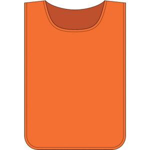 ■緑十字 安全ベスト(ゼッケン) オレンジ無地タイプ 600×440MM 布製 〔品番:237105〕【8151477:0】[送料別途見積り][法人・事業所限定][掲外取寄]