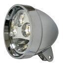LEDヘッドライト 5-3/4インチ クローム ハウジング付き