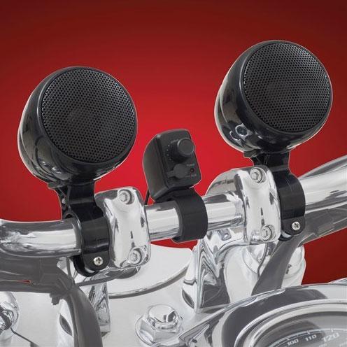 ブルートゥース対応 ハンドルマウント防水スピーカーシステム ブラック