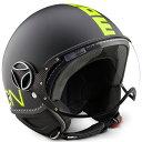 【MOMO DESIGN】ジェットヘルメット FGTR FLUO マットブラック/イエロー