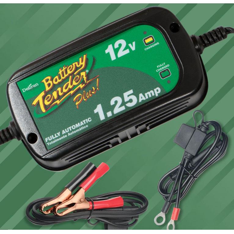 022-0185G-DL-WH:バッテリーテンダー プラス(1.25アンペア) フロート式 日本語説明書付き