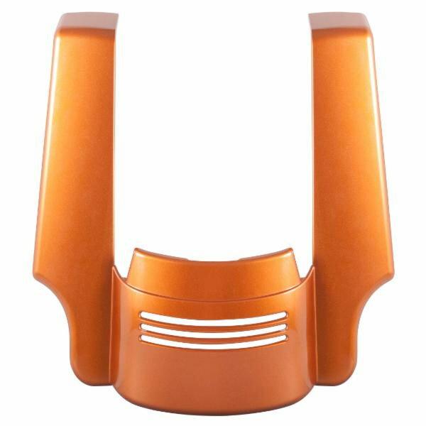 【ホグ ワークス】 4インチ Tri-Bar フェンダーエクステンション アンバーウィスキー 2009〜2019 ロードグライド、ストリートグライド HW106149