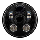 プロジェクターLED 5-3/4インチ・ヘッドライト ブラック
