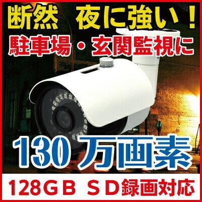 防犯カメラ SDカード録画 家庭用 屋外対応 130万画素 720P CK-700SD