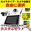 防犯カメラワイヤレス屋外家庭用200万画素ワイヤレス防犯カメラNVR録画機4台セットCK-NVR9015
