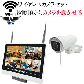 【遠隔地から自由自在にカメラを操作】 防犯カメラ 監視カメラ ワイヤレス 220万画素 ワイヤレス防犯カメラ WI-FI環境対応 台数自由 1台セット HDC-EGR12 イーグル NVR パンチルト 首ふり WTW-EGR993PT WTW-EG2542LH WTW-EGR993PTS