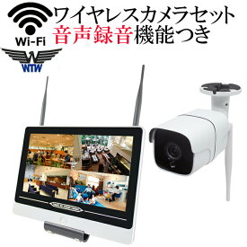 【音声録画対応】【マイク内蔵】 防犯カメラ 監視カメラ ワイヤレス 220万画素 ワイヤレス防犯カメラ WI-FI環境対応 台数自由 1台セット HDC-EGR01 イーグル NVR WTW-EGR178HEAW WTW-EG2542LH