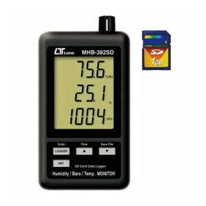 デジタル温湿度・気圧計 MHB-382SD (デジタル気圧計・温湿度計)
