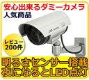 防犯カメラ ダミー 屋外タイプ 【送料無料】ダミーカメラ