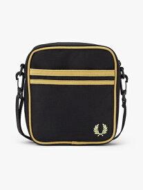 FRED PERRY フレッドペリー / ツインティップドサイドバッグ(L8265) Black x Champagne -国内送料無料-