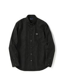 fc16b1893942 FRED PERRY フレッドペリー / ドットボタンダウンシャツ (F4499) Black -国内送料