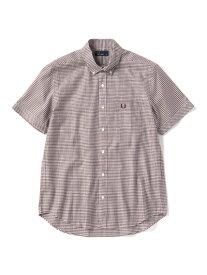 0966269b84a0 FRED PERRY フレッドペリー / ギンガムチェックボタンダウンシャツ (F4506) Maroon -国内