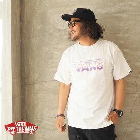 VANS バンズ Tシャツ ヴァンズ Gradation Logo S/S Tee 121R1010300 メンズ レディース 半袖 半袖Tシャツ アメカジ グラデーション 青 白 ピンク ロゴ プリント ストリート おしゃれ グラフィック メール便可