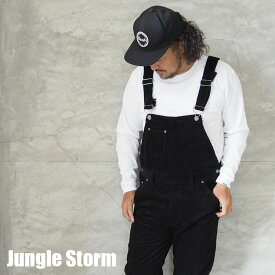Jungle Storm ジャングルストーム コーデュロイ オーバーオール 820641 メンズ レディース パンツ ツナギ つなぎ サロペット オールインワン アメカジ ワーク アウトドア おしゃれ