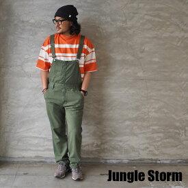 Jungle Storm ジャングルストーム オーバーオール 830420 メンズ レディース オールインワン デニム つなぎ ツナギ サロペット 長袖 denim 作業着 ワーク アメカジ キャンプ アウトドア おしゃれ