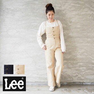 The Lee Lee overall Lady's MARINE SALOPETTE LL6088 salopette denim salopette denim underwear underwear long underwear adult fashion adult casual beige that race up Shin pull fashion in the spring and summer is pretty in spring