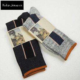 Nudie Jeans ヌーディージーンズ SOCKS SELVAGE 靴下 ソックス44161-7004 メンズ くつ下 くつした メンズ ブランド シンプル おしゃれ 大人 男性 プレゼント ギフト グレー gray カジュアル ビジネス ヌーディー NudieJeans