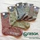 rasoxラソックススプラッシュコットンソックス4colors(CA060LC35)AW14Zメンズレディース靴下ソックス綿アクリル日本製スプラッシュコットン