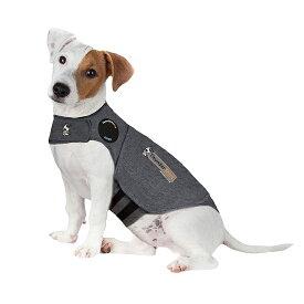 【不安緩和シャツ】サンダーシャツ クラシック グレー S 犬 いぬ イヌ 雷 花火 不安緩和 Thunder shirt