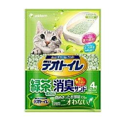 ユニ・チャームデオトイレ飛び散らない緑茶成分入り消臭サンド4L【デオトイレ】