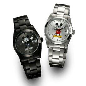 【クーポン獲得】【4980円以上送料無料】ディズニー世界限定腕時計ギミックアイミッキーシルバー 2個セット
