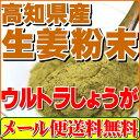 乾燥粉末しょうが(ウルトラ生姜)高知県産生姜パウダー100g殺菌蒸し工程 1cc計量スプーン入り【送料無料】