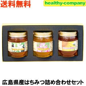 【国産蜂蜜 純粋ハチミツ】【送料無料】広島産はちみつ詰め合わせセット(れんげ、みかん、山の花)各160g