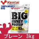 kentai BIG100% ホエイプロテイン プレーンタイプ 3kg - 健康体力研究所 [ケンタイ]