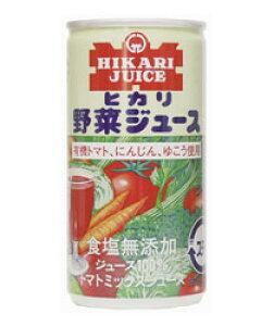 ヒカリ 野菜ジュース 無塩 190g×30本 - 光食品  [ヒカリ食品]